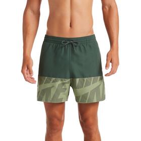"""Nike Swim Tilt Split Breaker 5"""" Shorts Volley Hombre, verde"""